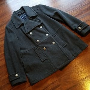 Nautica Double Breasted Wool Pea Coat XL